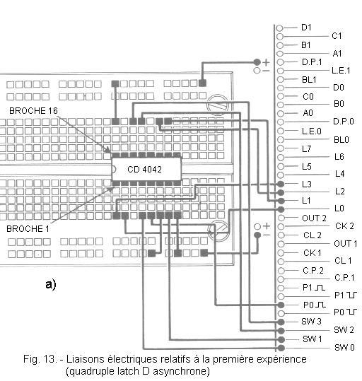 examination of a circuit latch cd 4042